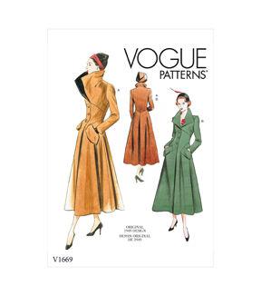 1950s Sewing Patterns | Dresses, Skirts, Tops, Mens Vogue Pattern V1669 Misses Outerwear - Size 14 - 16 - 18 - 20 - 22 $24.50 AT vintagedancer.com