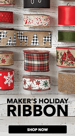Find hundreds of Christmas & holiday ribbon & bow styles at JOANN