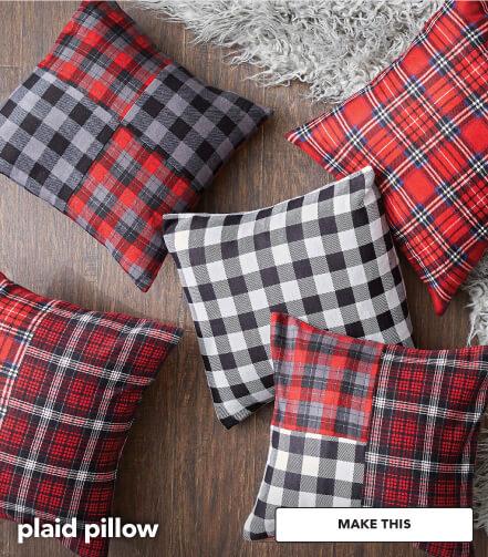 How to make a plaid pillow. Make This.
