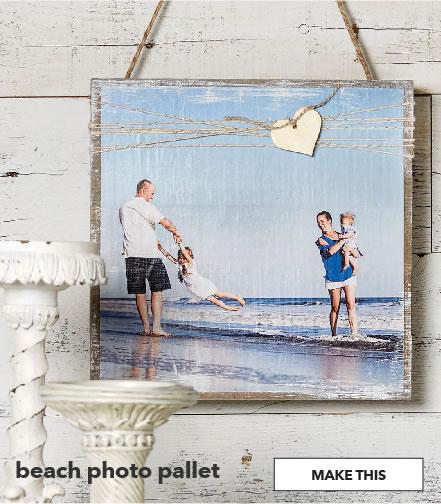 Beach photo pallet. Shop Now.