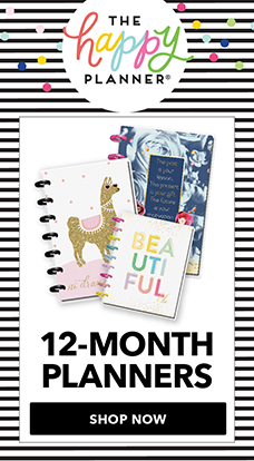 Happy Planner 12 month journal notebooks are available only at JOANN