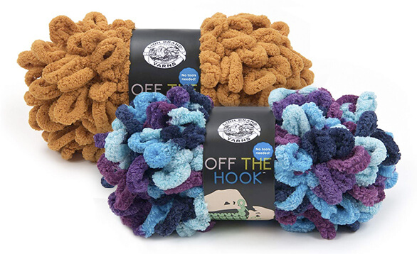 Lion Brand Off The Hook Yarn is great for finger knitting