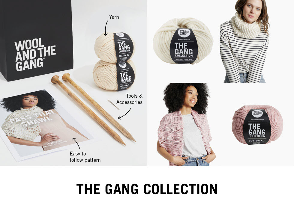 Wool and the Gang - Easy to follow patterns and instructions all in one kit.