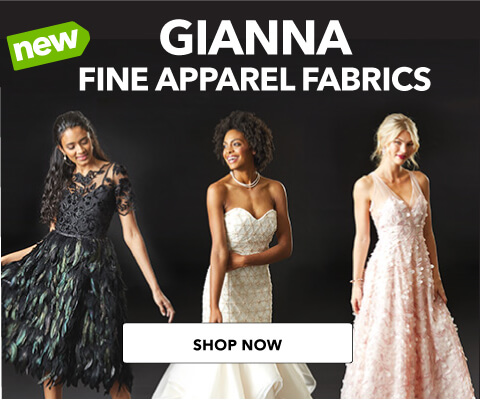 Introducing NEW Gianna Luxury Special Occasion Fabrics. Shop Now.