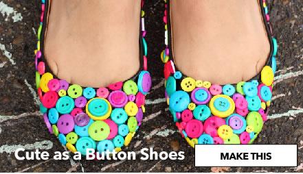Cute as a Button Shoes. Make This.