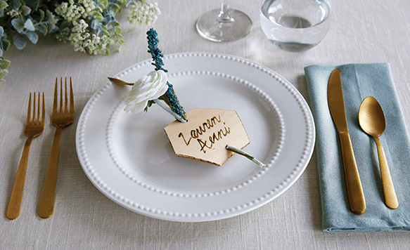 image of wood place setting