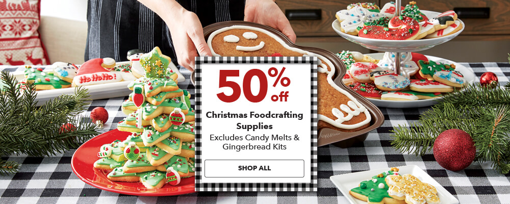 60% off Christmas Foodcrafting Supplies. Excludes Candy Melts and Gingerbread Kits. Shop Now.
