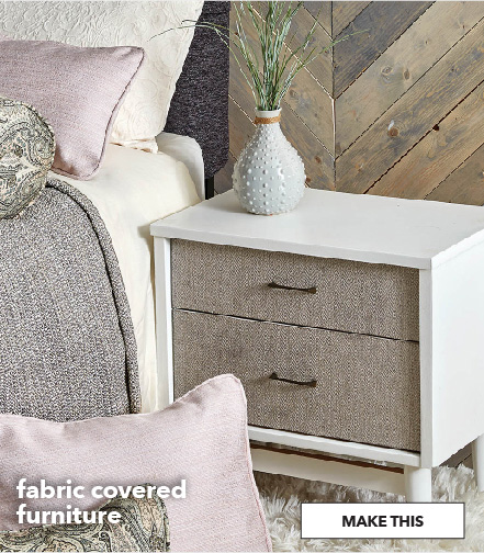 How to make fabric covered furniture. Make This.