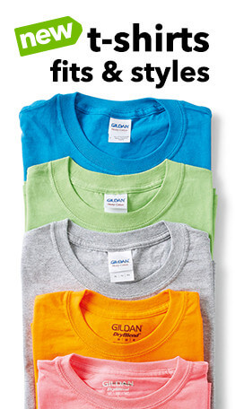 Fabric craft with the new Gildan performance, raglan longsleeve, & comfort color t-shirts are now available at JOANN