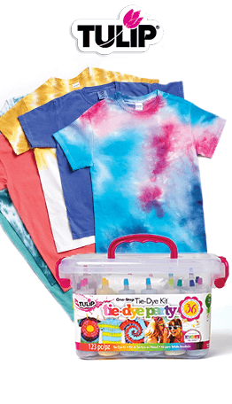 Summer is the time to tie-dye. And JOANN has everything you need to do it! Create cool tees for the entire family with Tulip tie dye kits!
