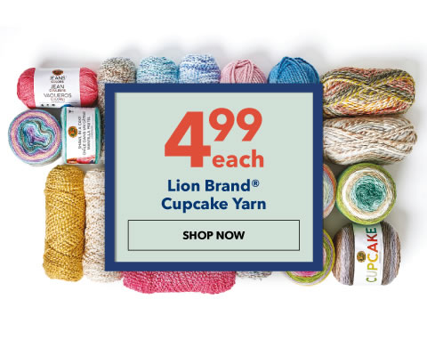 4.99 each Lion Brand Cupcake Yarn. Shop Now.