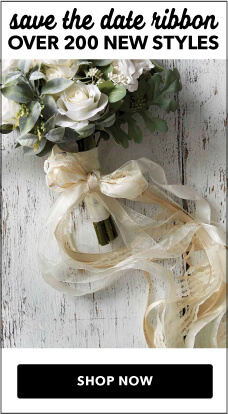 Over 200 new styles of wedding ribbon are available at JOANN