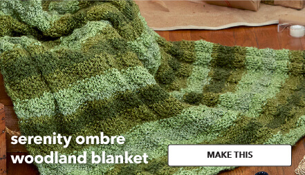 Serenity Ombre Woodland Blanket. Make This.