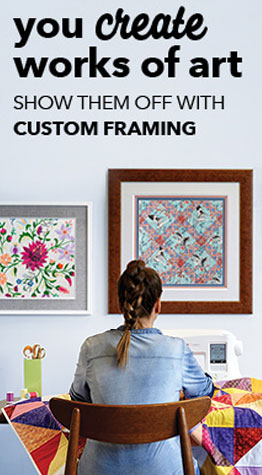 Custom Framing at JOANN Fabric & Craft Stores | You create works of art, show them off with custom framing!
