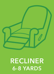 Recliner. 6-8 Yards.