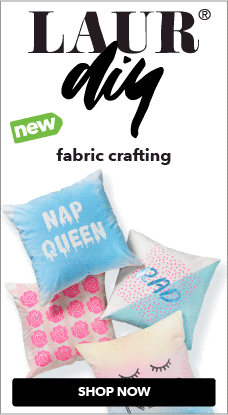 NEW LaurDIY fabric crafting supplies & accessories are now available at JOANN