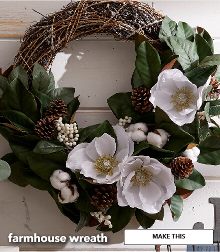 Farmhouse Wreath. Make This.