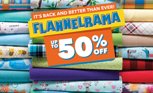 It's back and better than ever! Flannelrama! Up to 50% off!