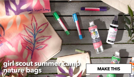How To Make Girl Scout Summer Camp Nature Bags. Make This.