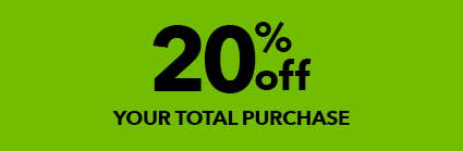 20% off your total purchase