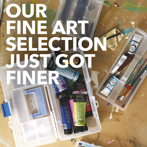 image of new fine art supplies