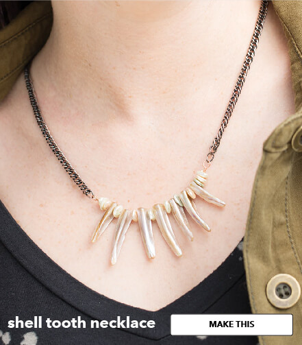 Shell Tooth Necklace. Make This.