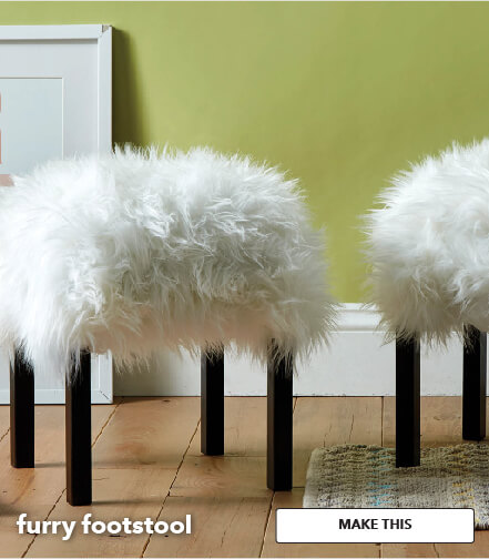 How To Make Furry Footstools. Make This.