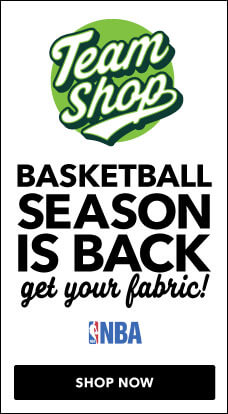 The NBA season is underway, support your team with fabrics from JOANN