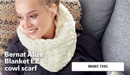 Bernat Alize blanket EZ cowl scarf. Make This.