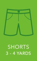 Mens Shorts 3 to 4 yards.