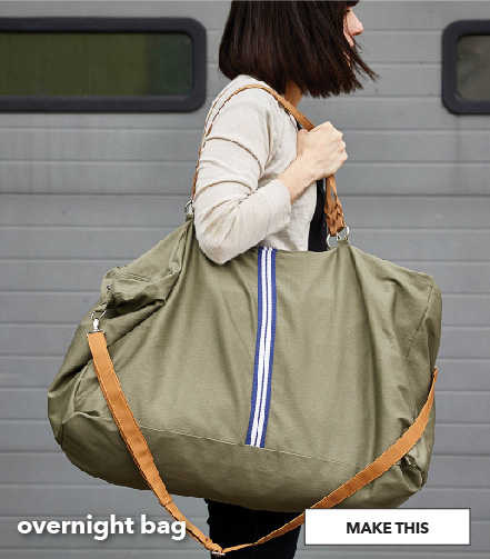 How To Make An Overnight Bag. Make This.