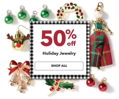 50% off Holiday Jewelry. Shop Now.