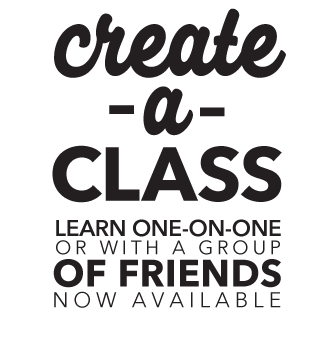 Create a Class. Learn one on one or with a group of friends now available.