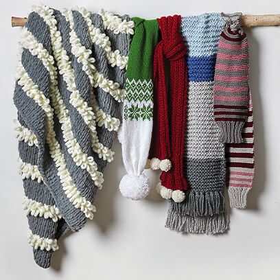 image of colorblock scarves