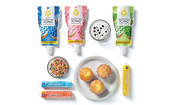 Image of kids food crafting supplies.