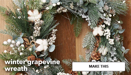 Winter Grapevine Wreath. Make This.