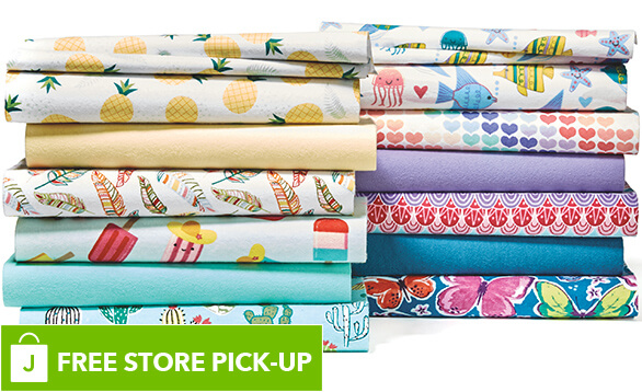 Image of Cozy Flannel Solids and Snuggle Flannel Prints.