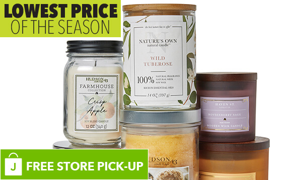 Image of Hudson 43 and Haven Street Scented and Unscented Candles. BUY ONLINE, PICK-UP IN-STORE. LOWEST PRICE OF THE SEASON.