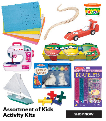 Assortment of Kids' Activity Kits. Shop All.
