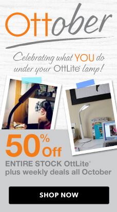 Up To 50% off all OttLites, throughout October, at JOANN