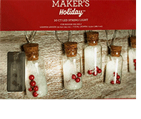 Maker's Holiday String Light Sets' Glass Jar