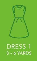 Womens Dress 1 3 to 6 yards.