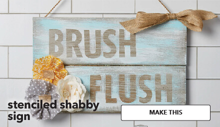 How To Make A Stenciled Shabby Sign. Make This.