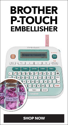 With the Brother P-Touch Embellisher, you can label anything, now available at JOANN