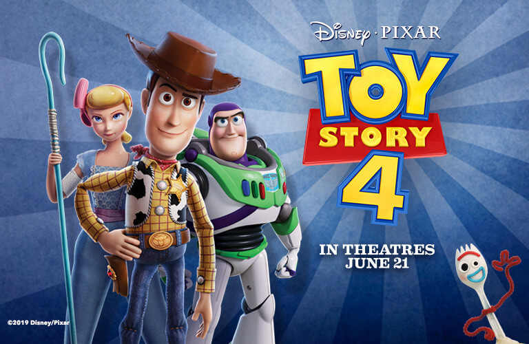 Toy Story 4 coming to theaters June 21st, 2019. Shop Now!