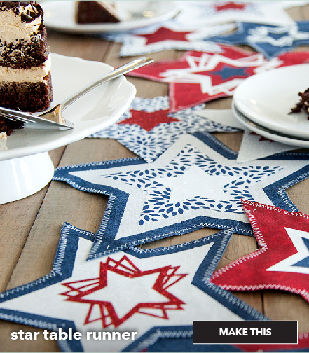 How to make a star table runner. Make This.