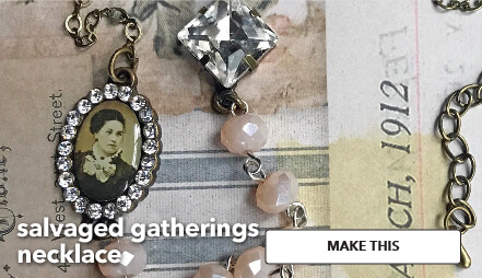 Salvaged Gatherings necklace. Make This.