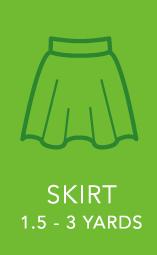 Womens Skirt 1.5 to 3 yards.