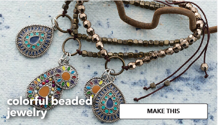 Colorufl beaded jewelry. Make This.