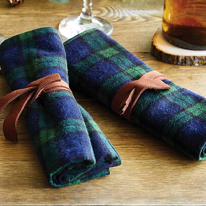 image of flannel napkins